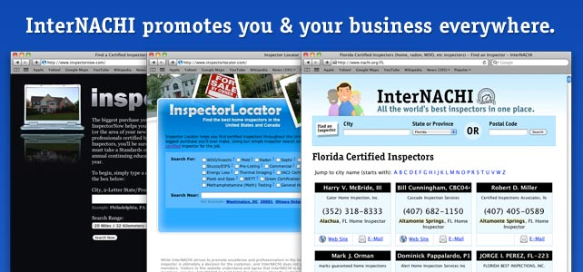InterNACHI promotes you & your business everywhere.